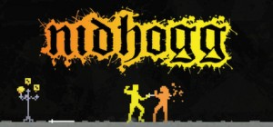 Nidhogg relies heavily on mind games and footsies. Image found here --> http://cdn.akamai.steamstatic.com/steam/apps/94400/header.jpg?t=1411596481